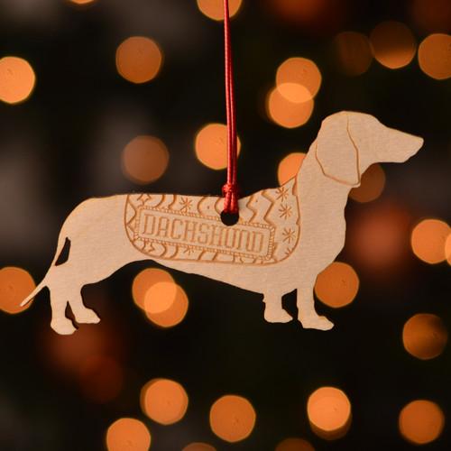 Personalised Dachshund dog Decoration