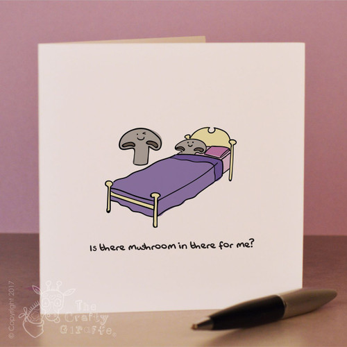 Is there mushroom in there for me? Card