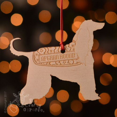 Personalised Afghan Hound Decoration