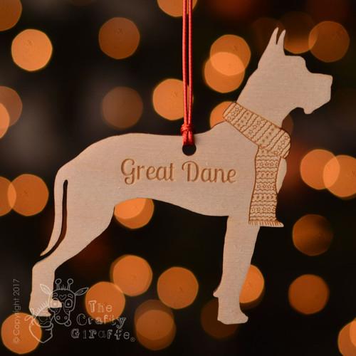 Personalised Great Dane Dog Decoration