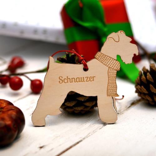 Personalised Schnauzer Dog Decoration
