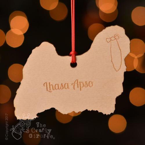 Personalised Lhasa Apso Dog Decoration