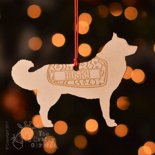 Personalised Husky Dog Decoration