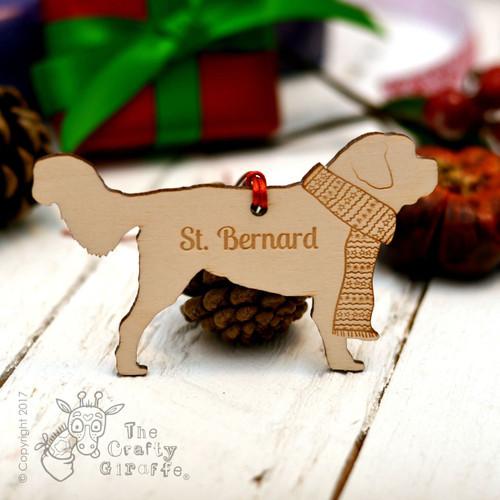 Personalised St Bernard Dog Decoration