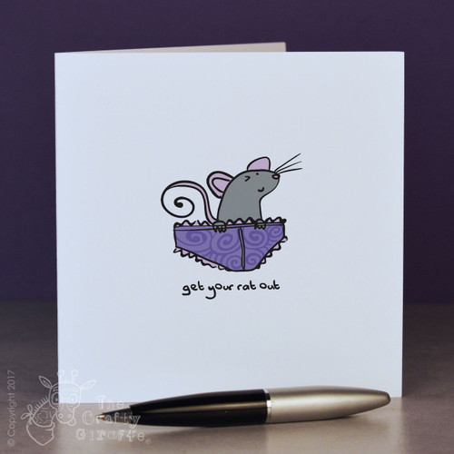 Get your rat out (knickers) Card