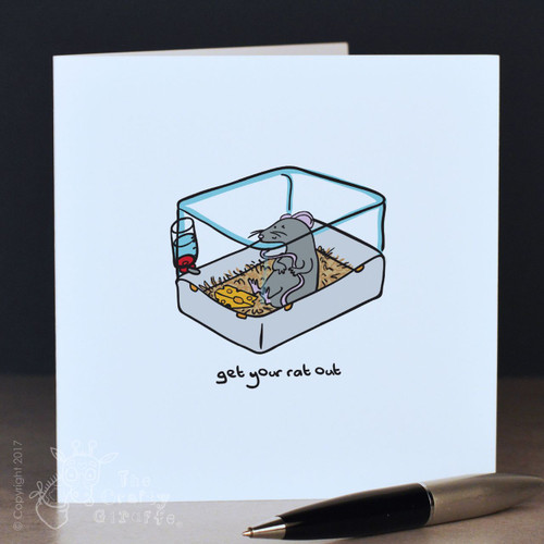Get your rat out (cage) Card
