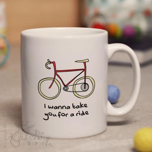 I wanna take you for a ride mug
