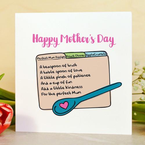 Perfect Mum recipe Card
