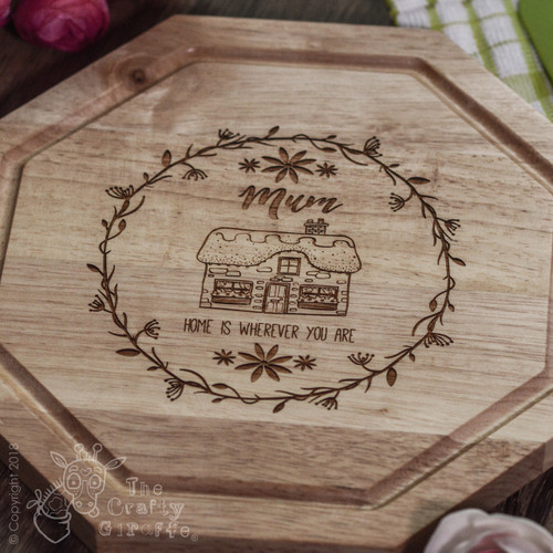 Personalised - Home is wherever you are (vine) board