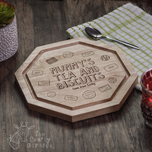 Personalised - Tea and Biscuits Board