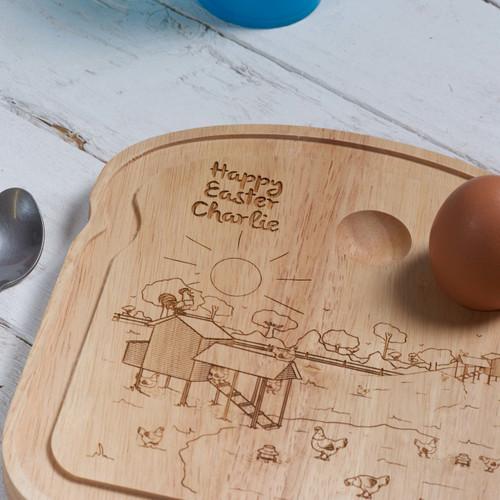 Personalised Breakfast Egg Board - Easter