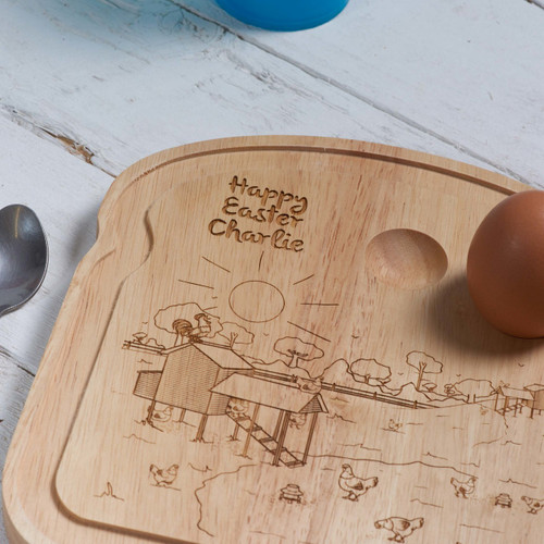 Personalised Breakfast Egg Board - Easter
