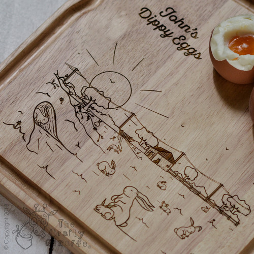 Personalised Breakfast Egg Board - Bunny