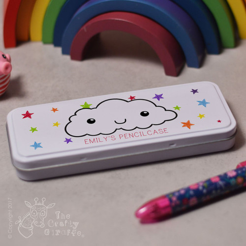 Personalised Cloud Pencil Tin