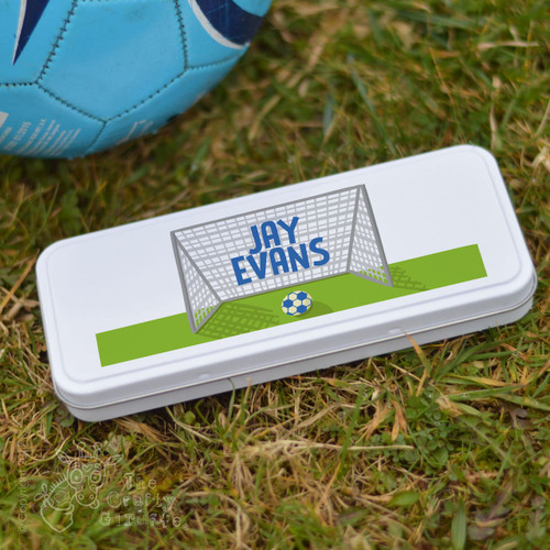 Personalised Football Pencil Tin