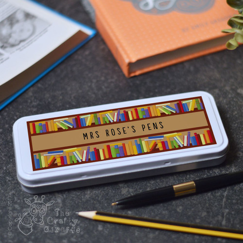Personalised Books Pencil Tin