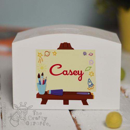 Personalised Art Easel Money Box