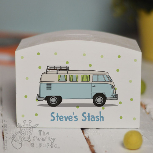 Personalised Campervan Money Box