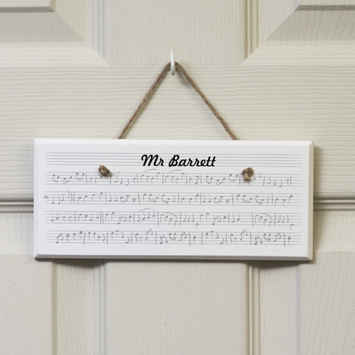 Personalised Music Sign