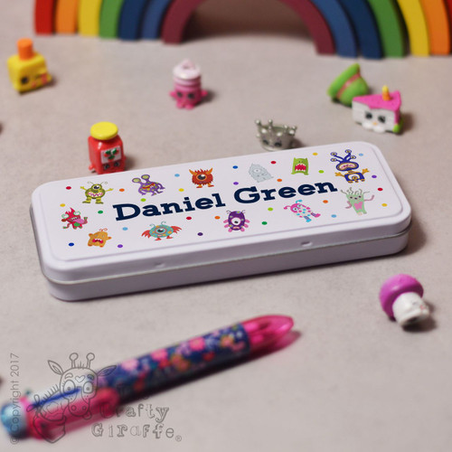 Personalised Monster Pencil Tin