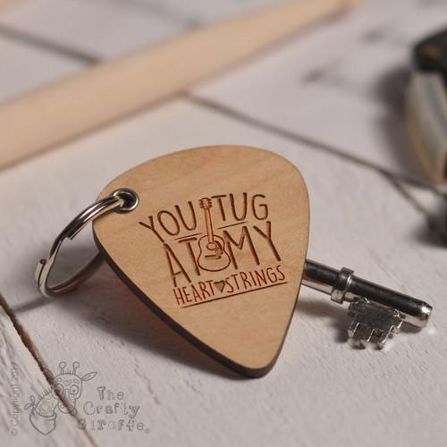 You tug at my heartstrings Pick Keyring