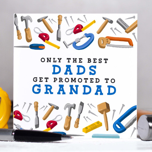 Personalised Only the best Dads (tools) Card