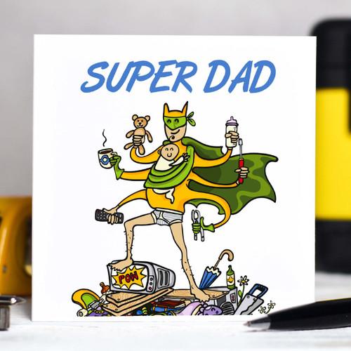 Personalised Super Dad Card