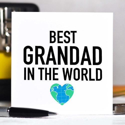 Personalised Best Grandad in the world Card