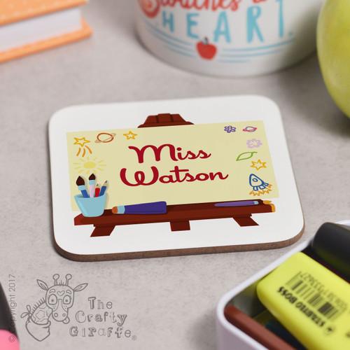 Personalised Art Easel Coaster