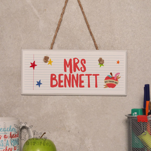 Personalised Teacher Name - Best teacher apple Sign