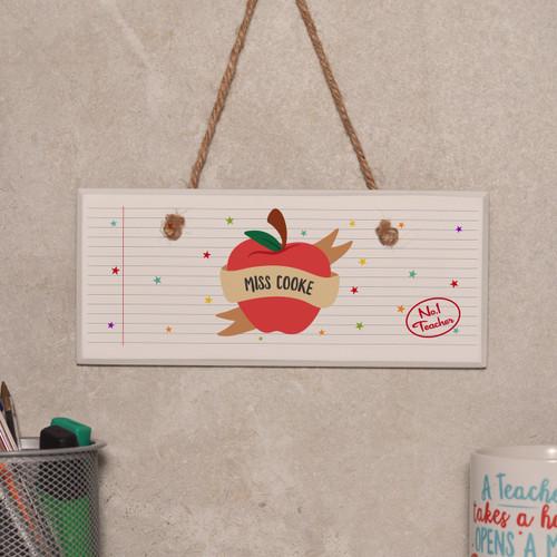 Personalised Apple Teacher Sign