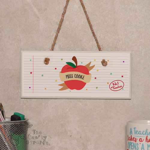 Personalised Apple Teacher Sign