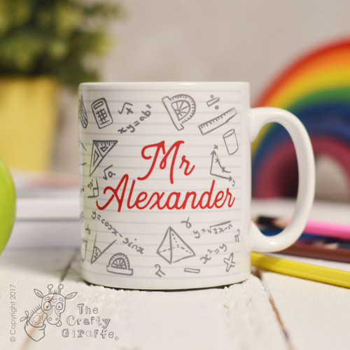 Personalised Maths Mug