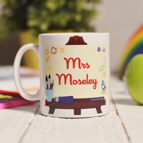 Personalised Art Easel Mug