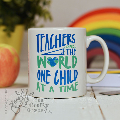 Personalised Teachers change the world one child at a time Mug