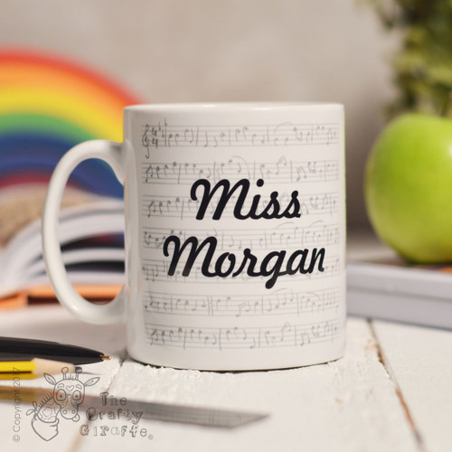 Personalised Music Mug