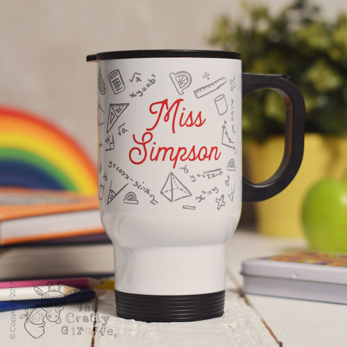 Personalised Maths Travel Mug