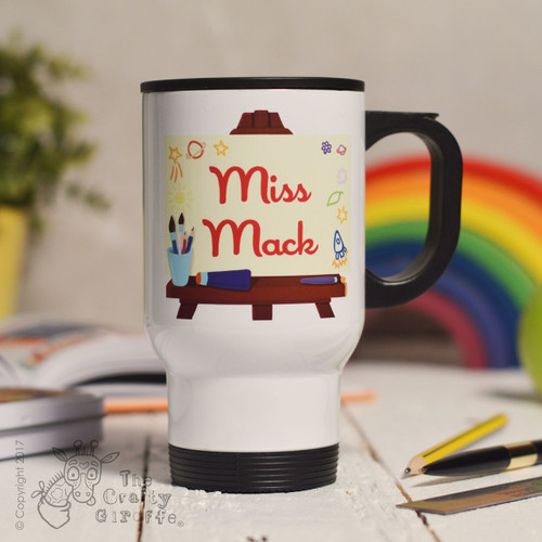 Personalised Art Easel Travel Mug