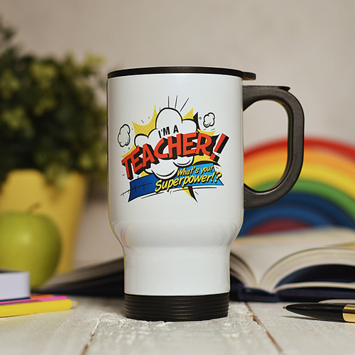 Personalised I'm a teacher what's your superpower Travel Mug