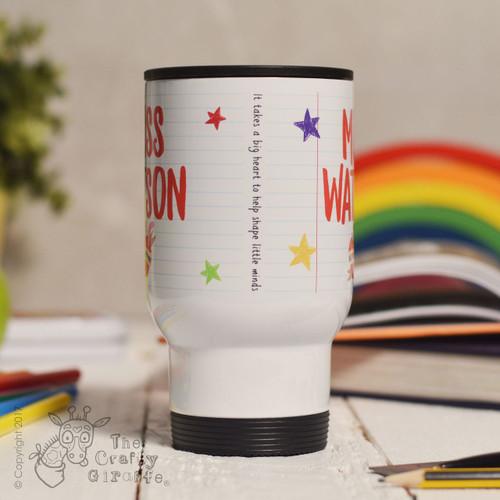 Personalised Teacher Name - Best teacher apple Travel Mug - The ...