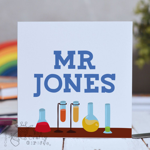 Personalised Science Card