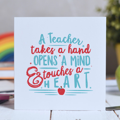 A Teacher takes a hand Card