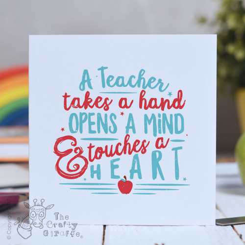 A Teacher takes a hand Card