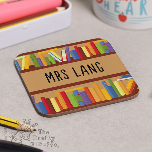Personalised Books Coaster