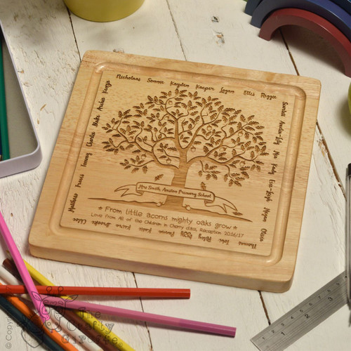 Personalised Teacher Classroom Acorn Board - 32 Names
