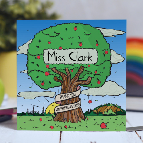 Personalised Apple Tree Card