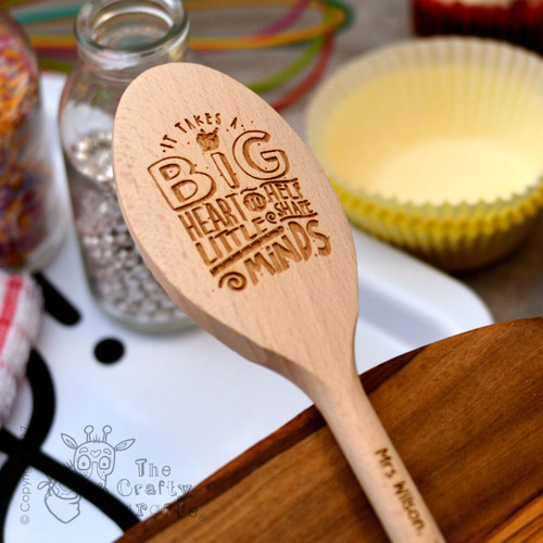 Personalised It takes a big heart Spoon