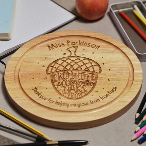 Personalised From little acorns mighty oaks grow board