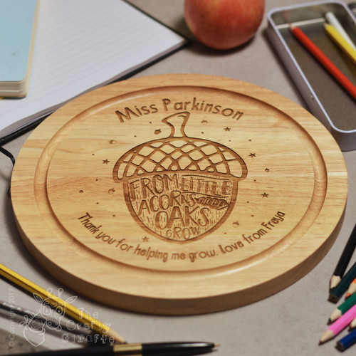 Personalised From little acorns mighty oaks grow board