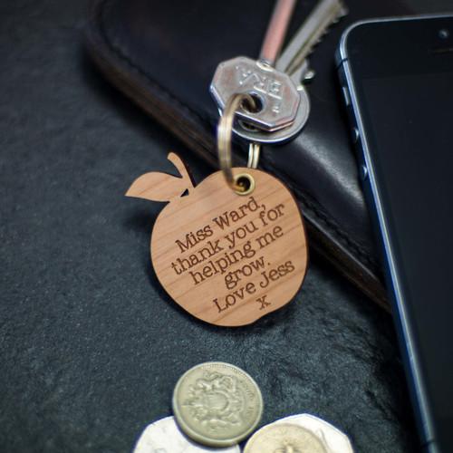 Personalised Apple Keyring
